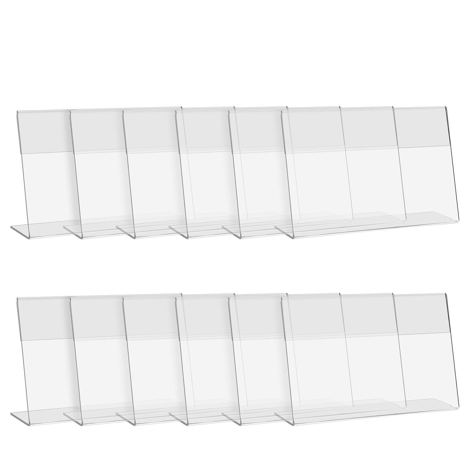 CRUODA Acrylic Sign Display Holder Menu Holders Table Card Holders Photo Frames Ad Frames (6x4 inches 12pcs)