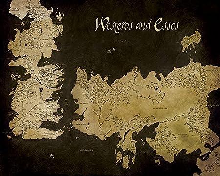Game Of Thrones Westeros And Essos Antique Map Canvas Print