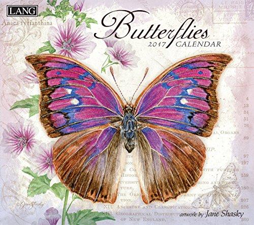 Lang 2017 Butterflies Wall Calendar, 13.375 x 24 inches (17991001898)