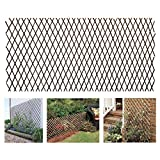 GLANT Lattice Fence Willow Expandable Plant Climbing Lattices Trellis Fence,Open Screen Willow Fencing,Willow Expandable Trellis Fence (1)