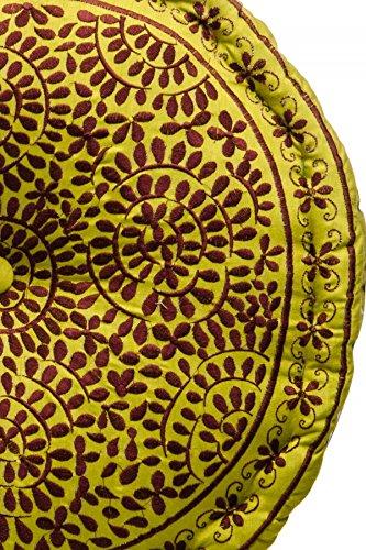 Orientalischer runder Pouf aus Baumwolle 50cm inklusive F/üllung Marokkanisches Sitzkissen Sitzpouf Kissen Haydar /ø 50cm Rund Marokkanischer Hocker Sitzhocker Fusshocker bestickt