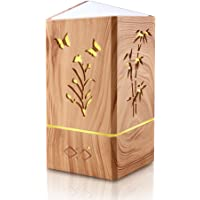 Flower Bird Aromatherapy Diffuser Essential Oil Diffuser with Wood Grain