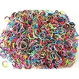 600 élastiques multicouleur + 20 clips création bracelet style Rainbow Loom