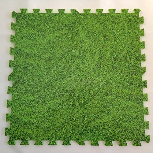 EVA Solid foam puzzle mat with grass pattern used for exercise/yoga size:12″X12″ 3/8″Thick 9PCS/bag