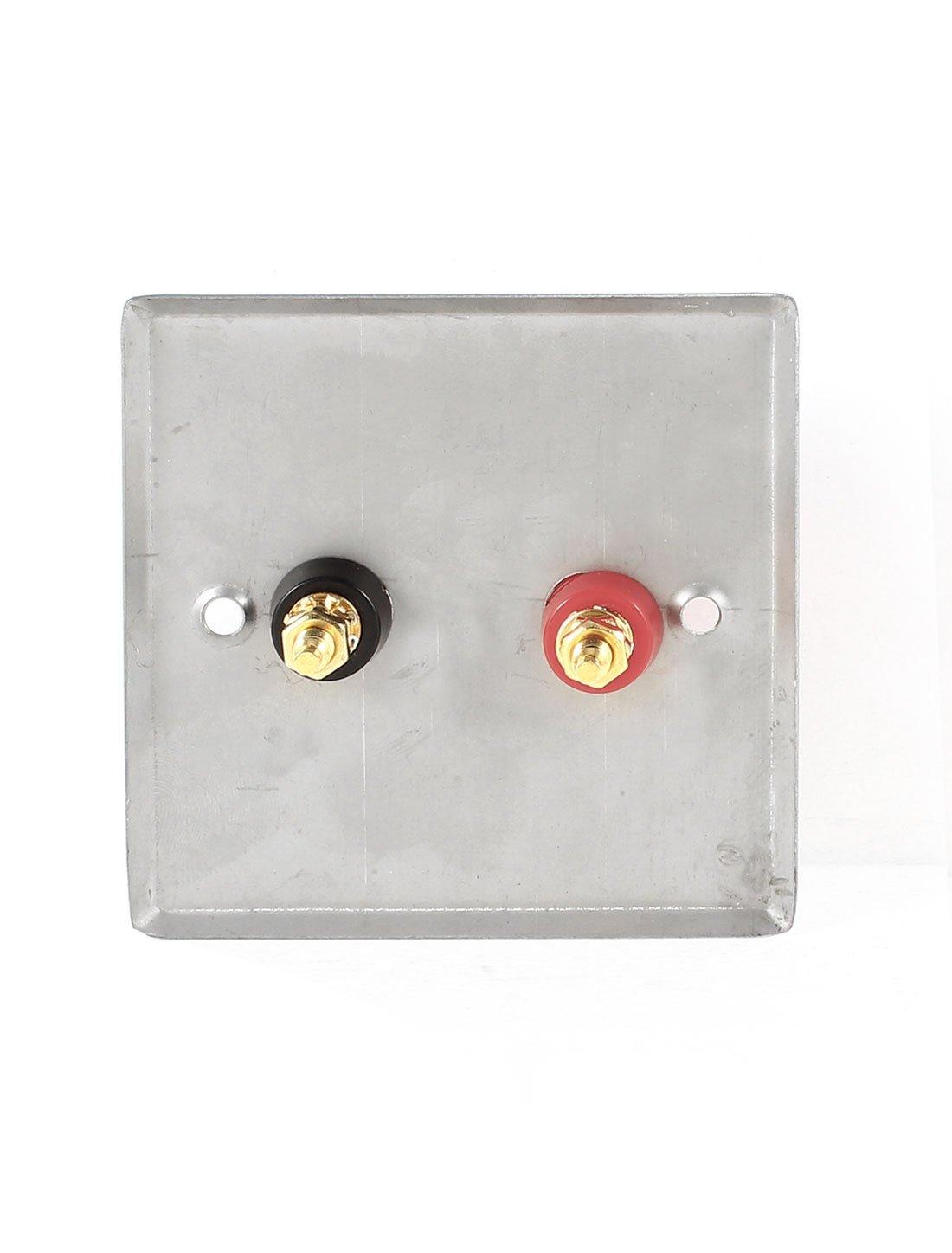 Amazon.com: eDealMax altavoz 2X Negro Rojo 6.35 cuarto Gato del zócalo de pared de Metal placa 85x85mm: Electronics