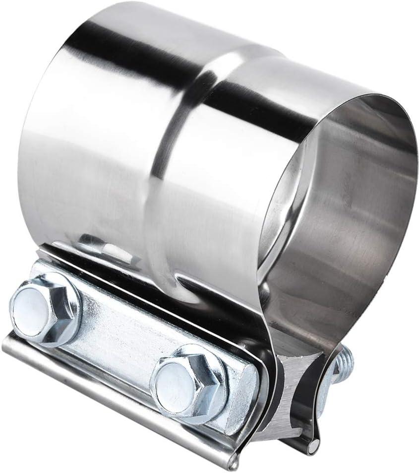 abrazadera de 2,75 pulgadas acero inoxidable 70 mm Abrazadera de tubo de escape