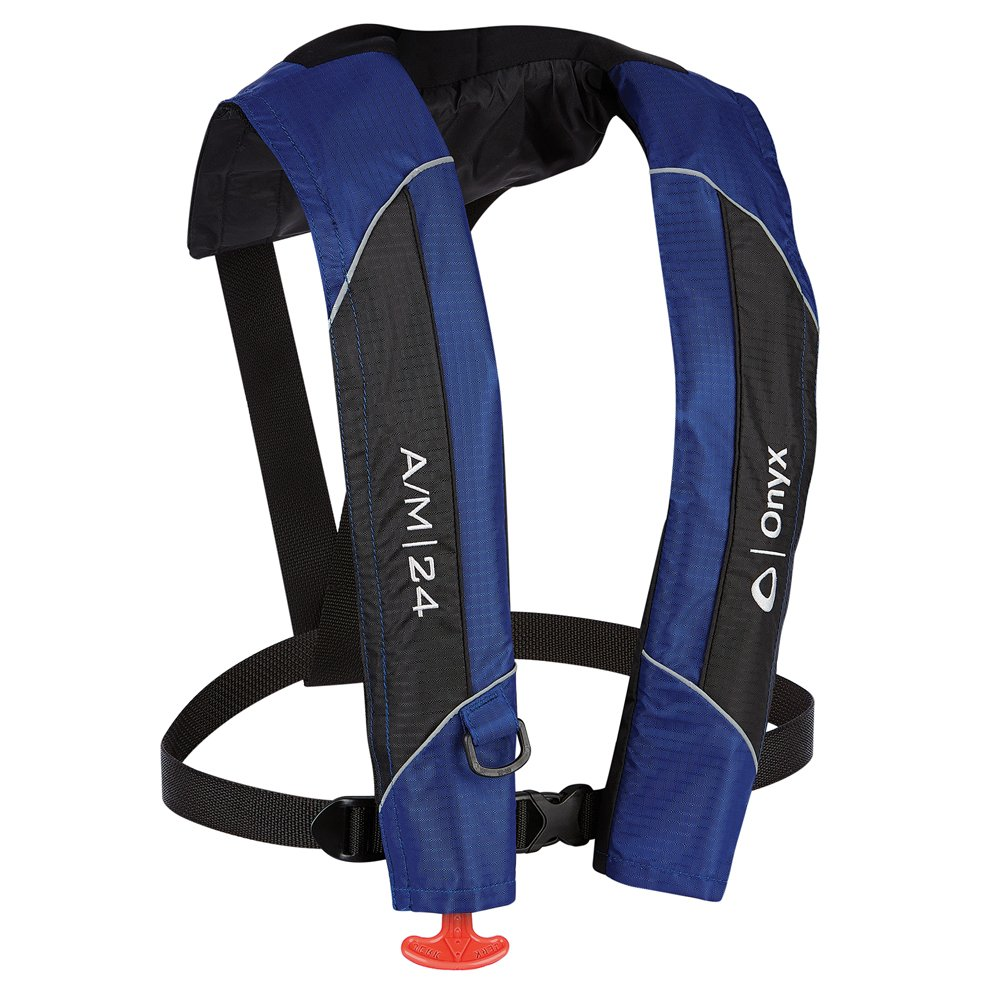 1 - Onyx A/M-24 Automatic/Manual Inflatable PFD Life Jacket - Blue by Onyx Outdoor   B00TLFE5WE