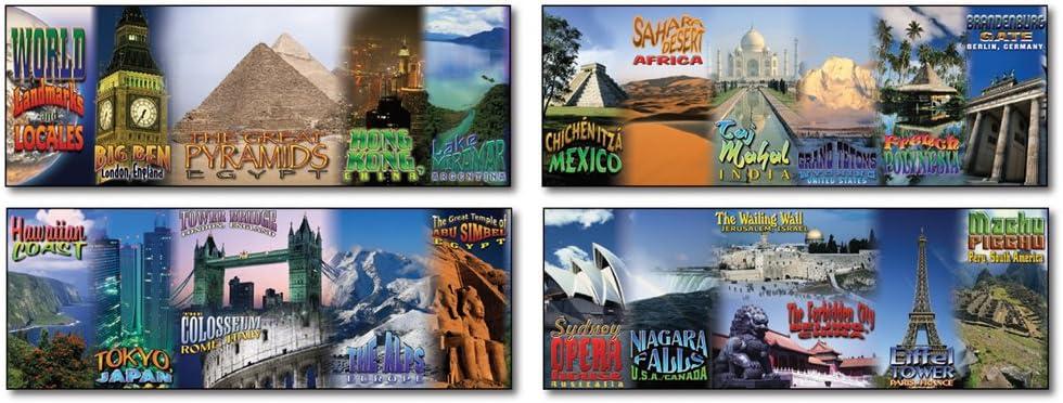 1954 Carson Dellosa Mark Twain World Landmarks and Locales Topper Bulletin Board Set