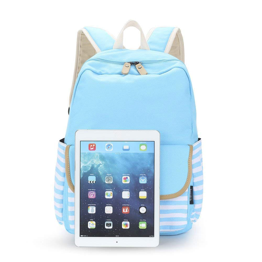 Amazon.com: XHHWZB French Breton Nautical Striped Backpack Rucksack Marine Sailor Navy Stripy School Bags for Teenager Girls (Color : Blue): Office Products
