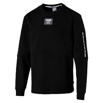 Puma Rebel Block Crew FL Sweatshirt, Hombre, Cotton Black, S