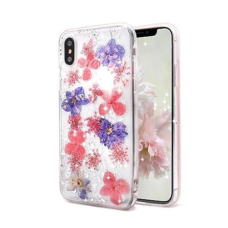 coque silicone iphone x fleur