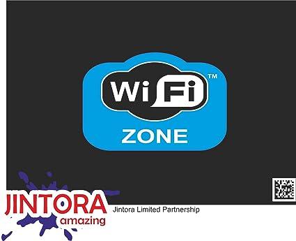 JINTORA - WiFi Zone - Pegatina Vinilo Impreso para Coche, Carpeta ...