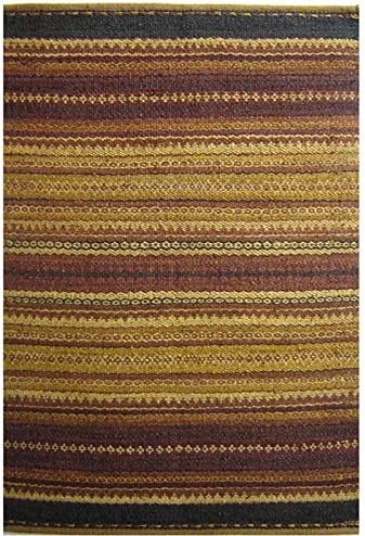Acura Rugs Natural Jute Diane Collection Area Rug, Hand Woven Jute Rug 6 x 9 Feet 72 W x 108 L