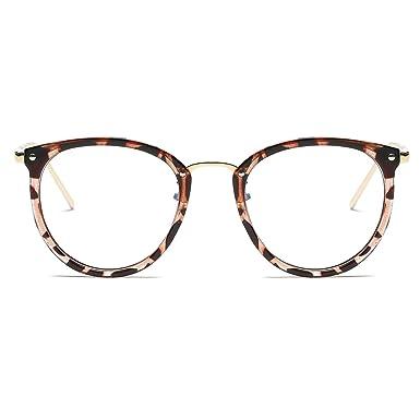 Amazon.com: Amomoma Womens Fashion Clear Lens Round Frame Eye ...