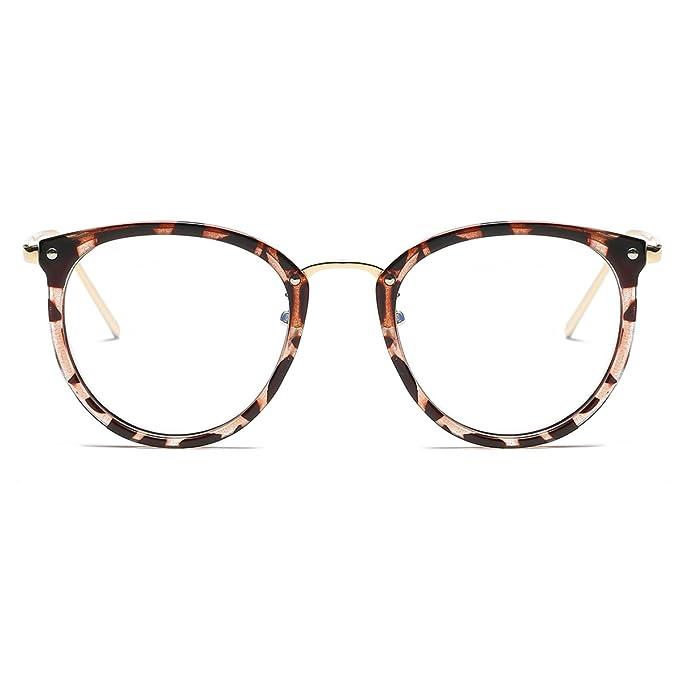 5bc5312889 amomoma Fashion Round gafas marco óptico gafas marco lente transparente  gafas AM5001: Amazon.es: Ropa y accesorios
