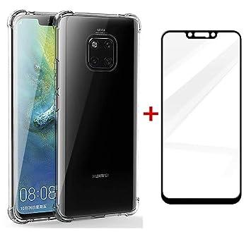 AILZH Funda Huawei Mate 20 Pro Transparente Silicona TPU 360 Grados Carcasa Case Cover Flexible Antideslizante Teléfono Protection para Huawei Mate 20 ...