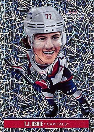 5db5a99e56525e 2018-19 Panini NHL Stickers Collection #253 T.J. Oshie Fathead Fathead Foil  Washington Capitals