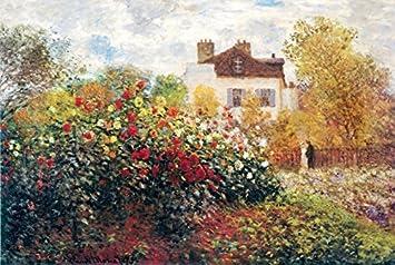The Artistu0027s Garden By Claude Monet 36x24 Art Print Poster