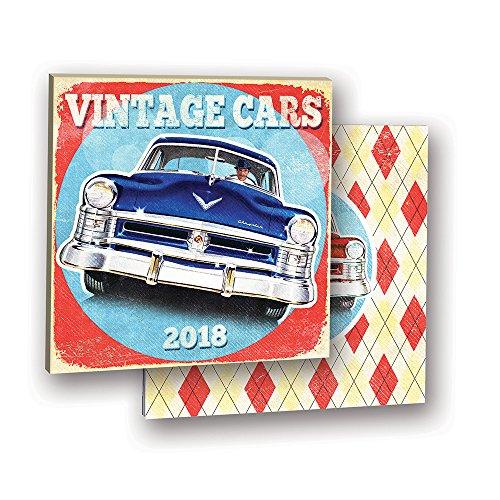 Orange Circle Studio 2018 Album Wall Calendar, Vintage Cars