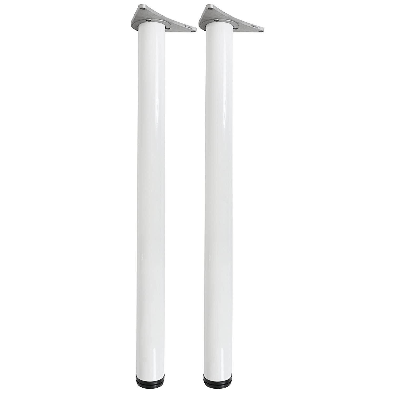 Hartleys - Gambe Tavolo Regolabili 870-890mm - Coppia - Bianco