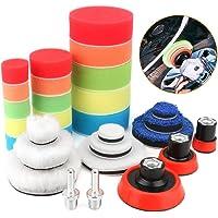 BestFire - almohadillas para orejas de pulido para taladro, 29 piezas de almohadillas para orejas de espuma para pulido…