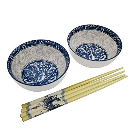 Bowls 4.5 Inch Japanese Ceramic Bowl Underglaze Blue And White Porcelain Tableware Household Small Bowls Ramen Mixing Bowl Accessories Home & Garden