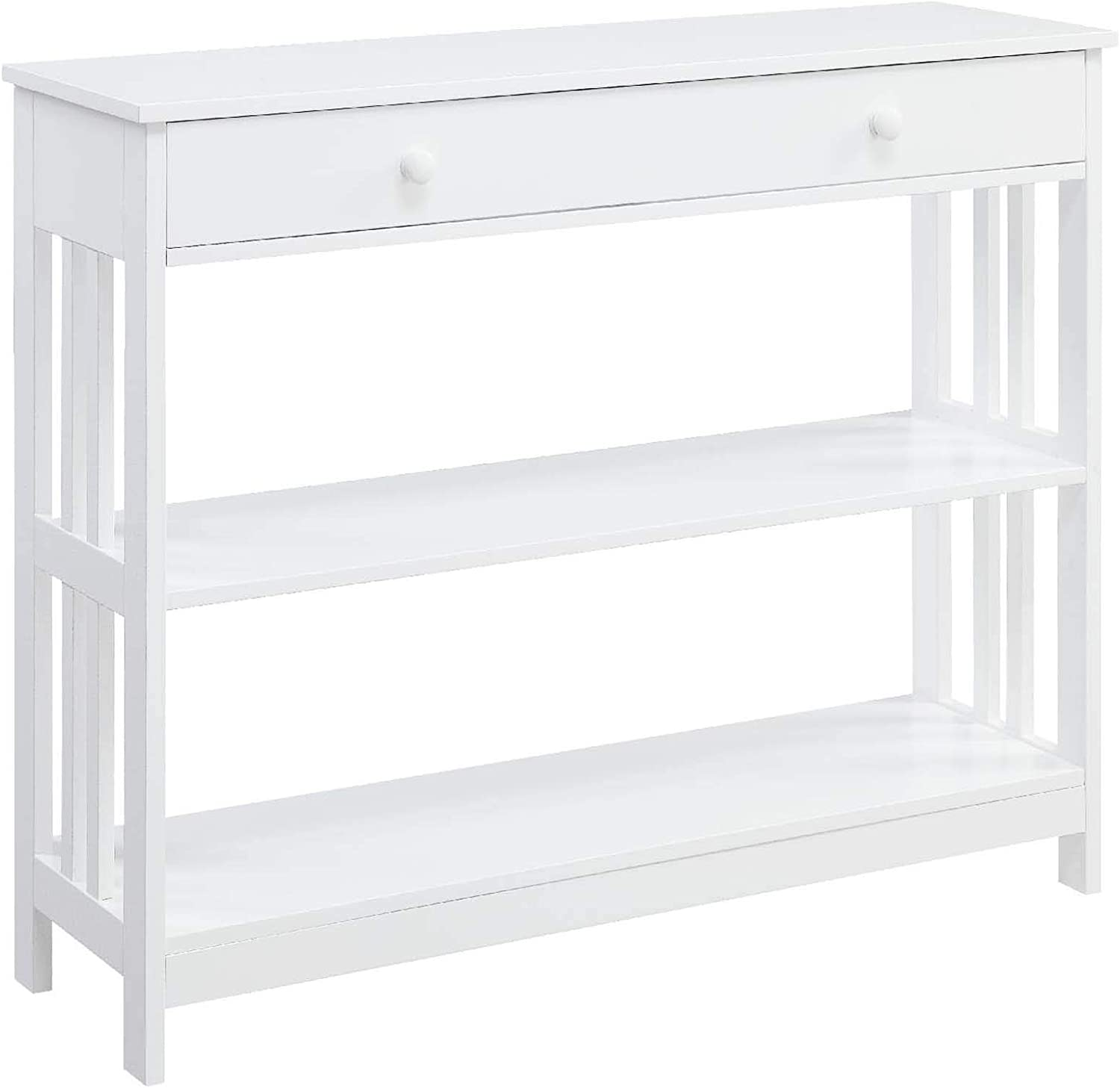 Convenience Concepts Mission 1 Drawer Console Table, White