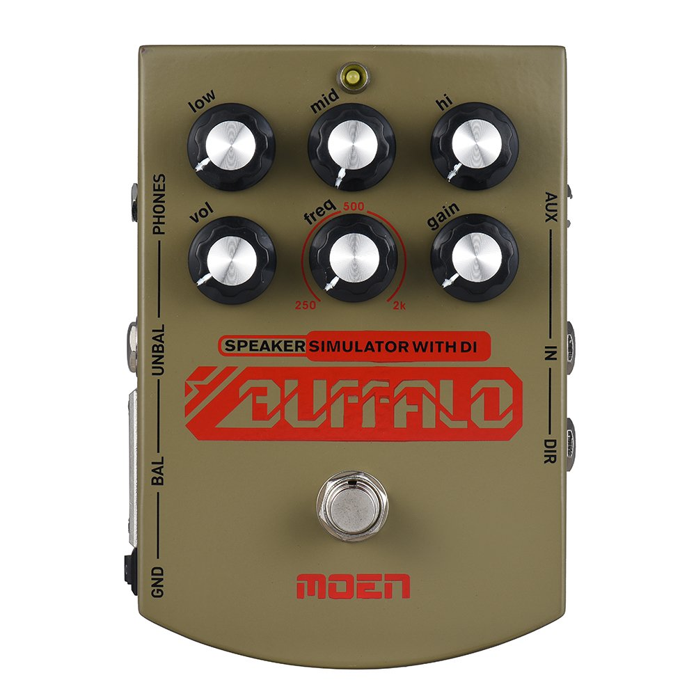 Muslady MOEN MO-BA BUFFALO Electric Guitar Speaker Simulator Effect Pedal Equalizer With DI Headphone Output True Bypass by Muslady