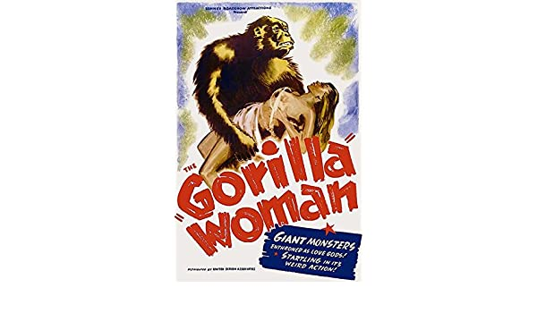 1937 Movie Poster Gorilla Woman