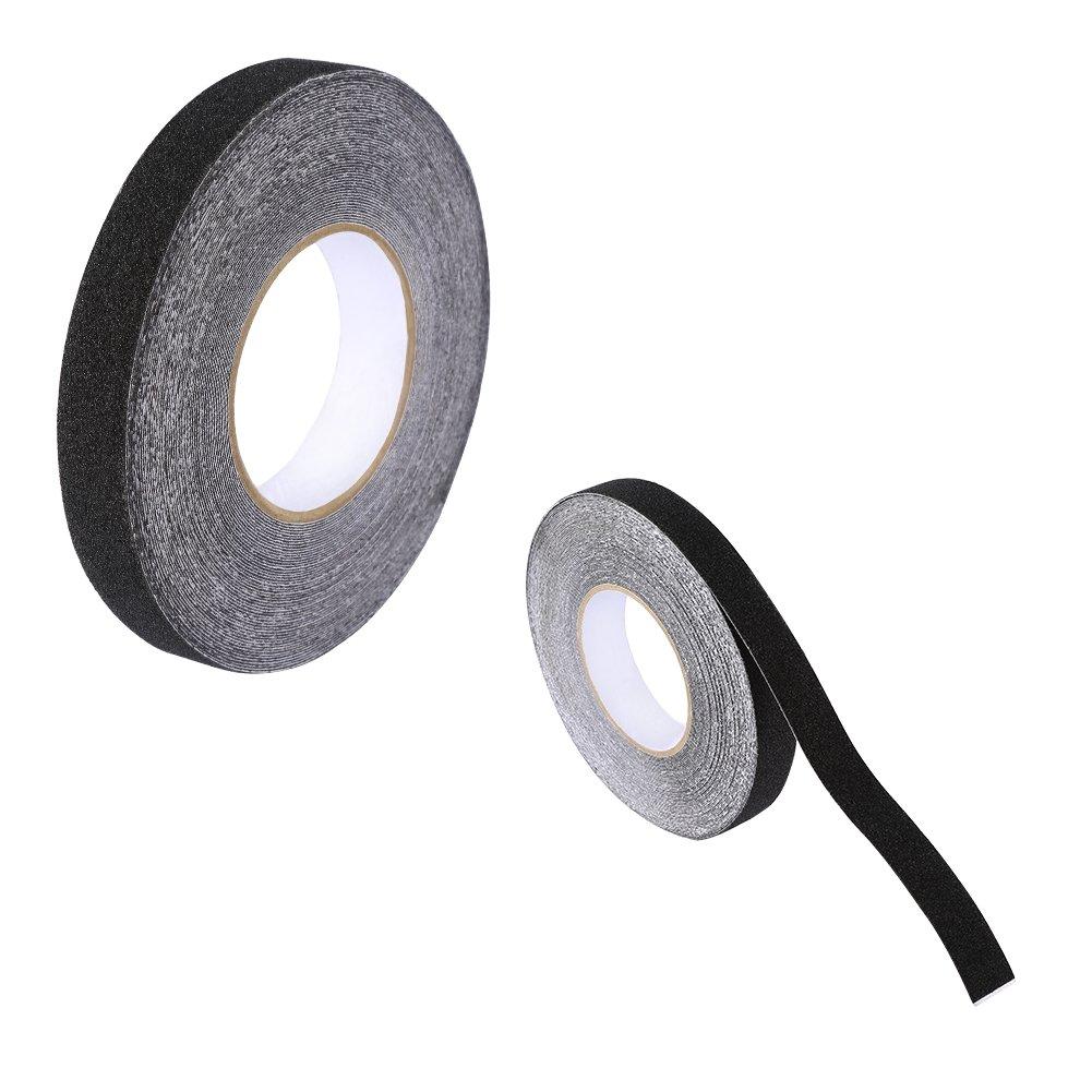 Black Anti Slip Adhesive Tape,PVC Ground Non-Slip Safety Grit Treads Resistent Safety Tape,1''x 16.4'
