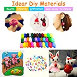 BBLIKE Polymer Clay, 36 Colors Oven Bake 5 Sculpture Tool Set and Accessories Plus Tutorials , DIY Modelling Moulding Kit Colorful Clay Safe and Soft (36 Color)