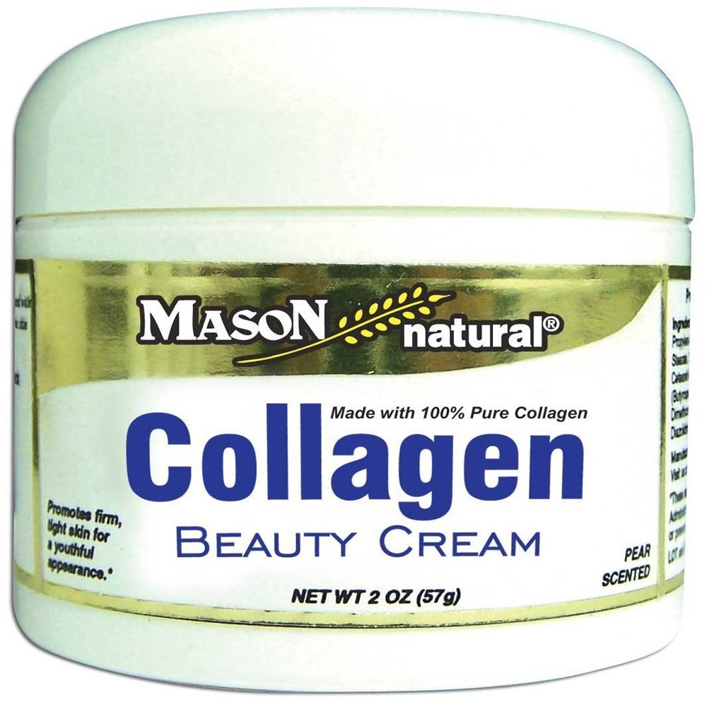 Mason Natural Collagen Beauty Cream Made with 100% Pure Collagen, 2 Ounce (Pack of 3) MASON VITAMINS INC 1475-2oz