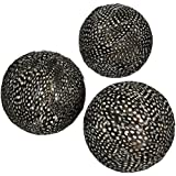 Hosley Decorative Feather Orbs, Assorted, Set of 3