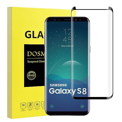 DOSMUNG Protector de Pantalla para Samsung Galaxy S8, Cristal Vidrio Templado Galaxy S8 de 3D Cobertura, Cobertura Anti-Choque Protector Pantalla Samsung ...