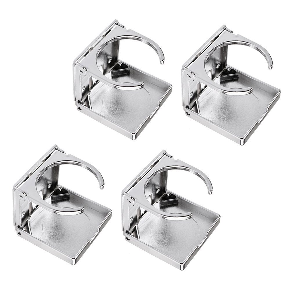 IPOTCH Set of 4 Foldable Cup Drink Can Holder for Boat Car Marine RV