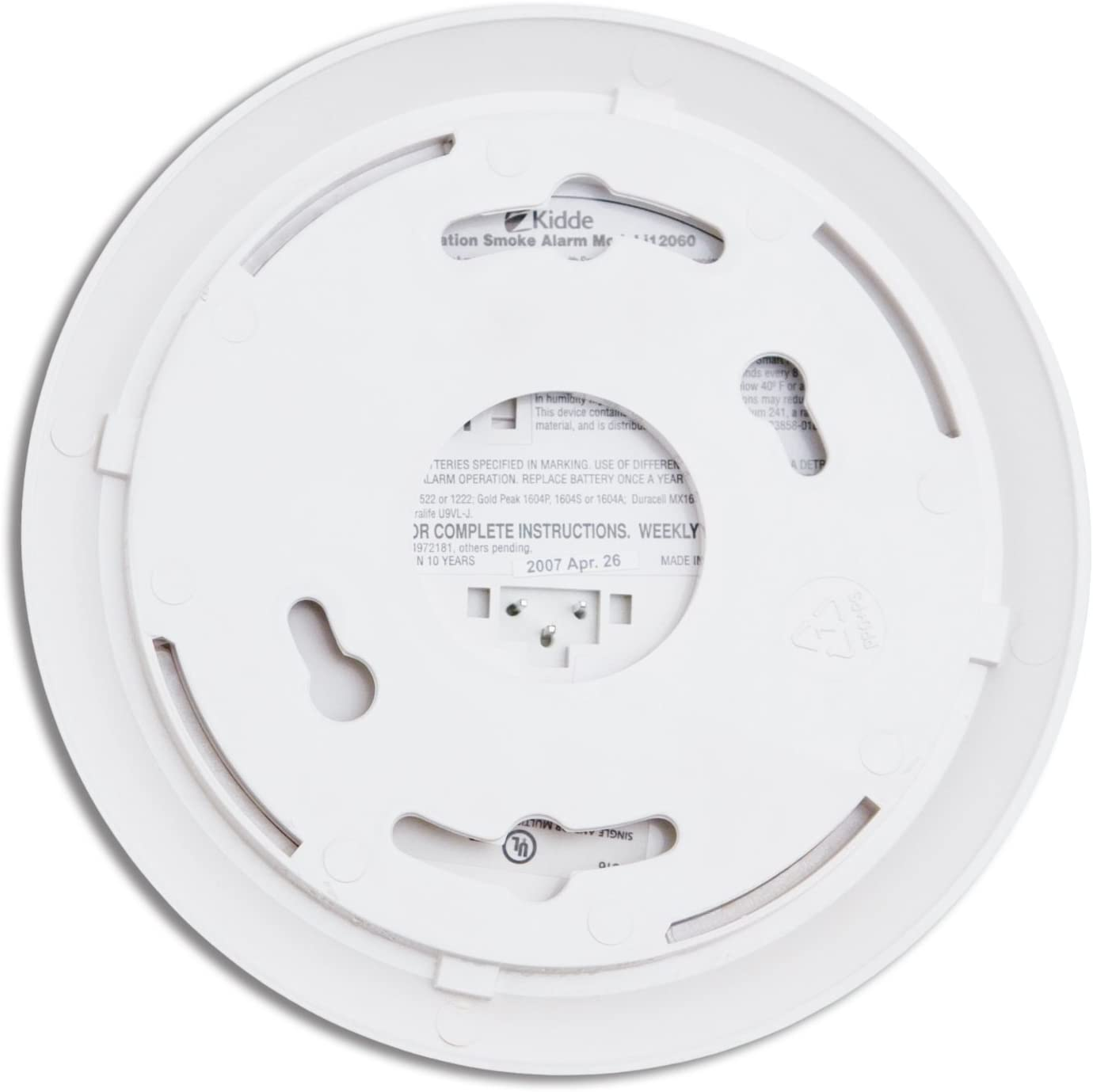 Kidde I12060 Smoke Alarm Spring Load Hush Replaces 1276 *2 PACK*