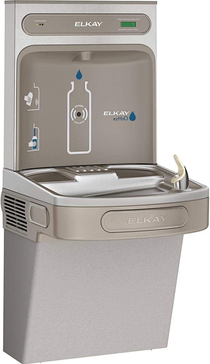 Amazon Com Elkay Lzs8wslk Ezh2o Bottle Filling Station With Single Ada Cooler Filtered 8 Gph Light Gray Home Improvement