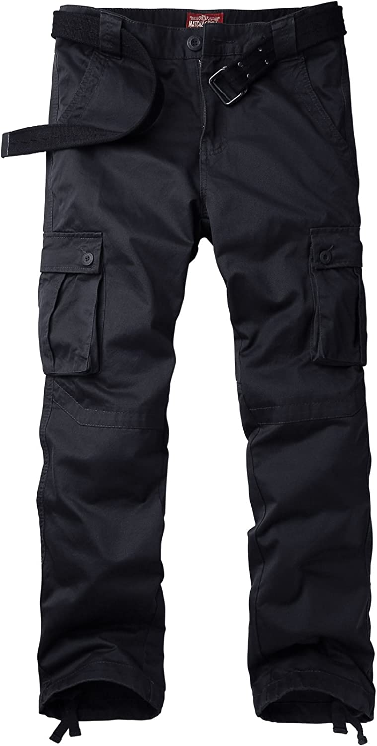 Match Mens Cargo Combat Trousers Work Trousers with Multi Pockets #6531