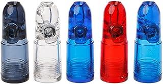 Tajie Distributeur De Tabac à Priser Portatif Snorter Rocket Forme Bouteille Acrylique Nasal Box