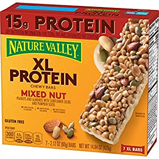 Nature Valley Chewy Granola Bar, XL Protein, Gluten Free, Mixed Nut,14.8 Ounce (Pack of 1)