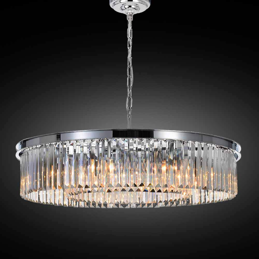 Meelighting crystal chrome chandeliers modern contemporary ceiling lights fixtures pendant lighting for dining room living room chandelier d33 5 8 lights