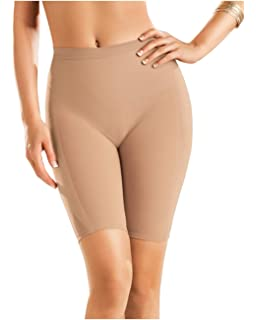 9bb1f51052 Leonisa Women s Petite Plus Well-Rounded Invisible Butt Lifter Shaper Short