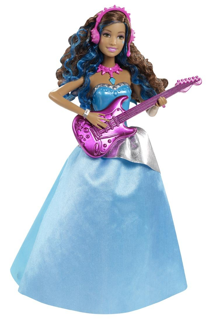 Barbie Mattel CMT04 - eine Prinzessin im Rockstar Camp - Erika mit Gitarre Mattel Barbie