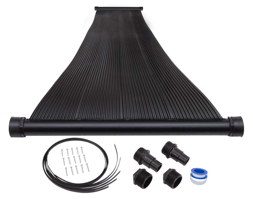 SunQuest 1-2'X10 Solar Swimming Pool Heater with Roof/Rack Mounting Kit by SunQuest