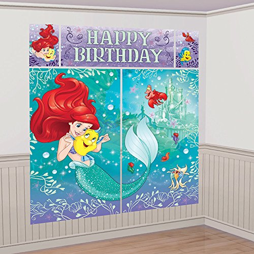 Disney Little Mermaid Ariel Scene Setters Wall Banner Decorating Kit Birthday Party Supplies