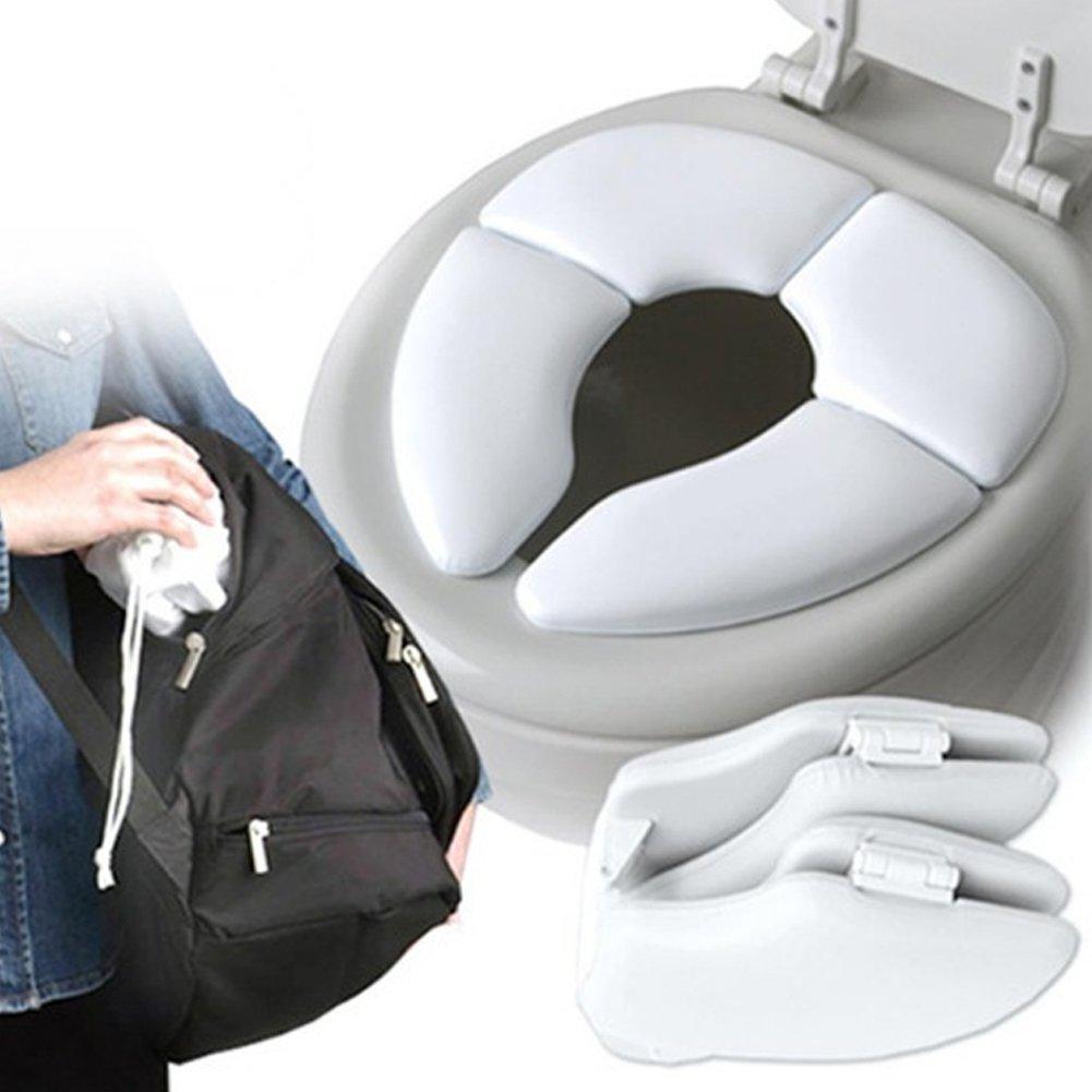 Faltbarer Toilettensitz Kinder Toilettentrainer, Tragbar Reise WC Sitz Toilette Töpfchen für unterwegs,Passt auf jede Standard-Toilette für Kinder/Baby. iBellete