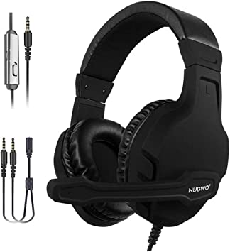 NUBWO Auriculares Gaming para PS4, Cascos Gaming con Micrófono ...