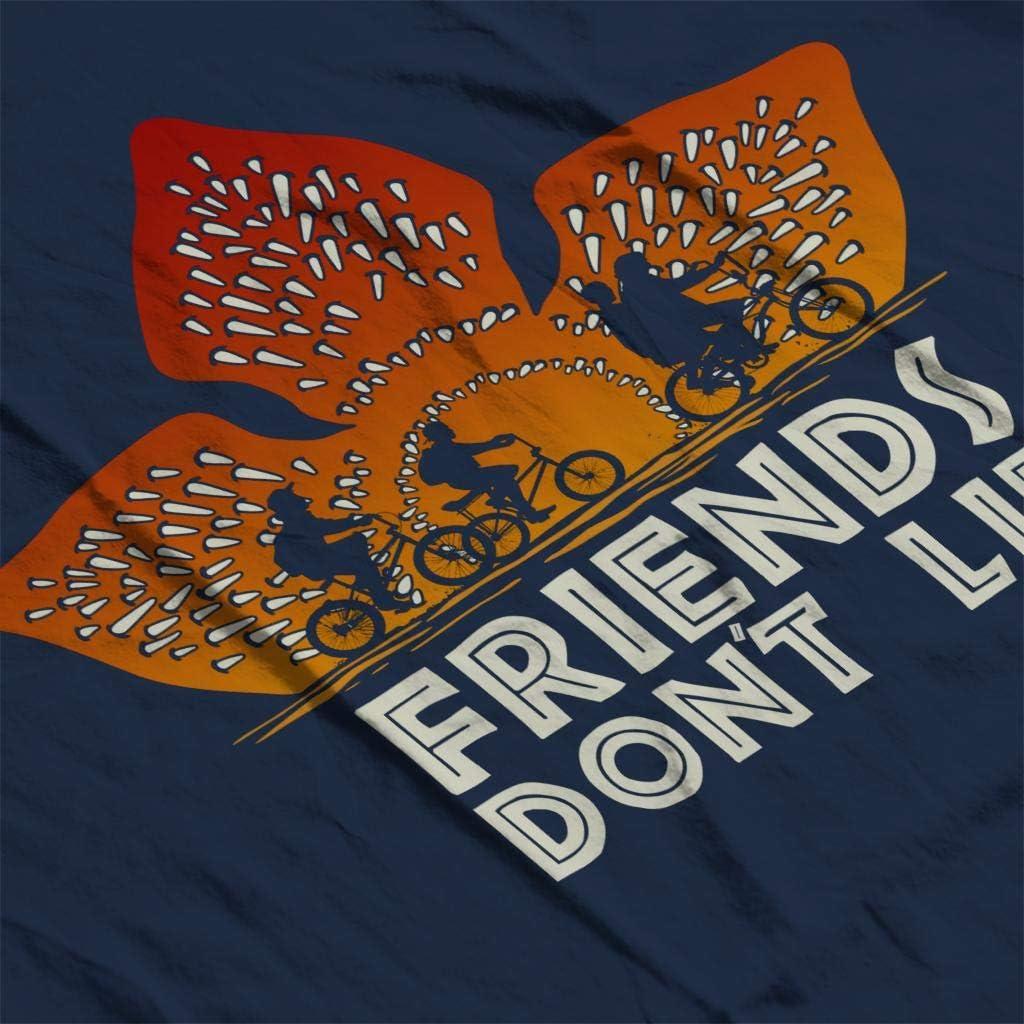 Demogorgon Sunset Friends Dont Lie Stranger Things Kids Hooded Sweatshirt