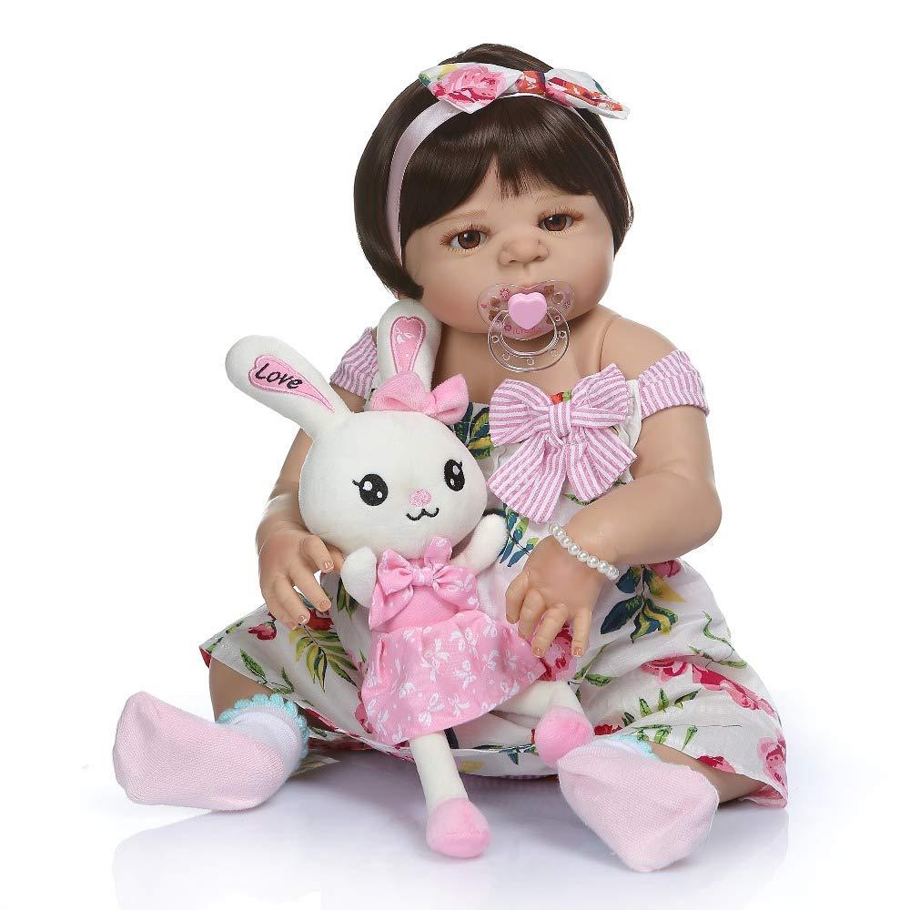 Amazon.es: SN86qiu Nuevo 56CM 0-3M tamaño Real del bebé niña ...
