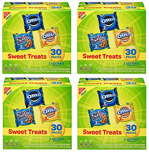 Nabisco Sweet Treats - Variety Pack Cookies, 30 Count Box, 23.4 Ounce (4 Packs)